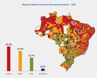 Mapa gestão fiscal dos municípios